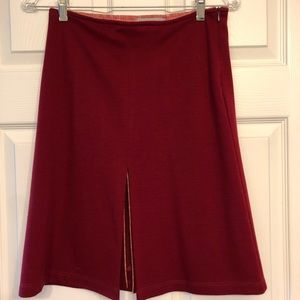 Red skirt with slit OBO